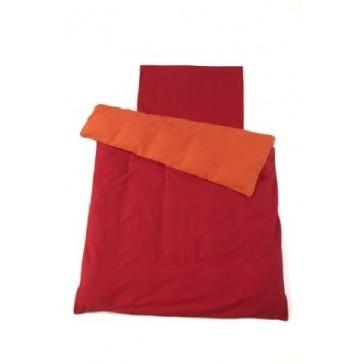 Dekenhoes ledikant Oranje / Rood - Jollein