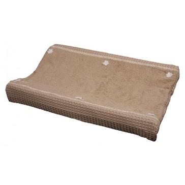 Aankleedkussenhoes Wafel met badstof Amsterdam Stone - Koeka