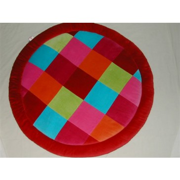 Boxkleed rond colourful check - Jollein