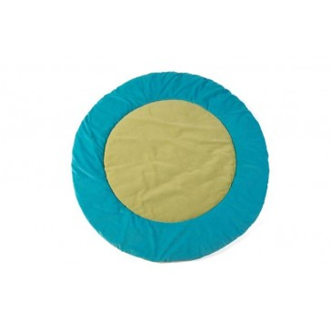 Boxkleed rond turquoise / lime - Jollein