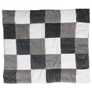 Boxkleed Colourful check grey/white 85x105cm - Jollein