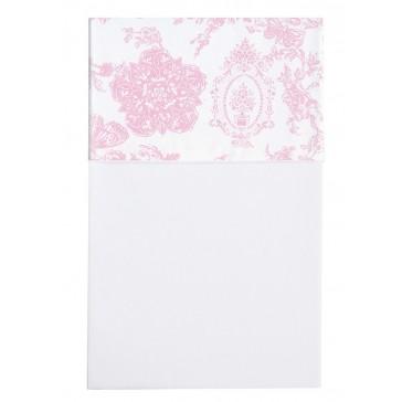 Ledikantlaken Toile de joey Roze vlinder - Cottonbaby