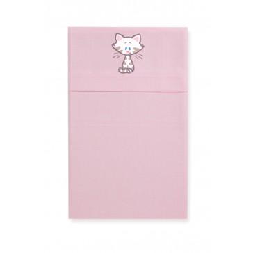 Wieglaken Woezel en Pip roze - Cottonbaby