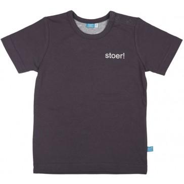 T-shirt stoer! Grijs - lief!