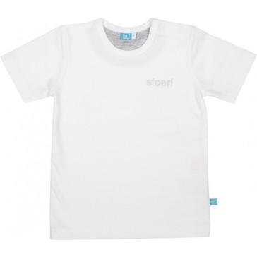T-shirt stoer! Wit maat 56 - lief!