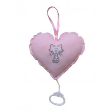 Muziekhart Buurpoes roze - Cottonbaby