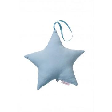 Muziekster Uni velours Lichtblauw - Cottonbaby