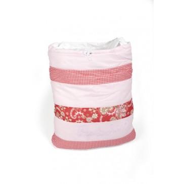 Pep & Juul speelgoedzak patchwork pink