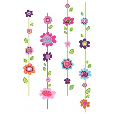 Muurstickers Flower Stripe - RoomMates