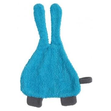 Speendoekje badstof Bunny aqua blauw - Jollein