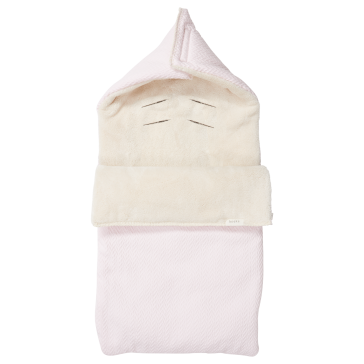 Voetenzak Stockholm Teddy - Old Baby Pink / Pebble - Koeka