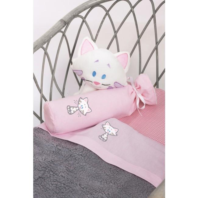Wieglaken Buurpoes roze - Cottonbaby | Babywinkel Yurada