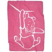Ledikantdeken Silly Pooh pink - Anel
