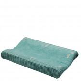 Aankleedkussenhoes Wafel met badstof Amsterdam Mint - Koeka
