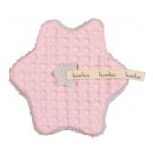 Speendoekje wafel met teddy Oslo Baby Pink / Silver Grey - Koeka