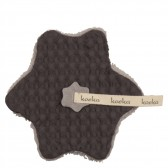 Speendoekje wafel met teddy Oslo Dark Grey / Soft Grey - Koeka