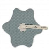 Speendoekje wafel met teddy Oslo Sapphire / Silver Grey - Koeka