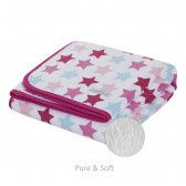 Wiegdeken Pure&Soft Mixed Stars Pink - Little Dutch