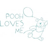 Muursticker middel Pooh Fresh mint - Anel