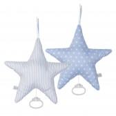Muziekdoos Ster Lichtblauw witte ster & streep - Little Dutch