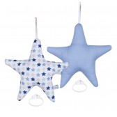 Muziekdoos Ster Mixed Stars Blue - Little Dutch