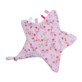 Knuffeldoekje Ster Pink Blossom - Little Dutch