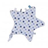 Knuffeldoekje Ster Mixed Stars Blue - Little Dutch