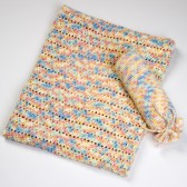 Wiegdeken handgemaakt multicolor - Handmade by