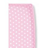 Hoeslaken Stip Roze voor wiegmatras - Cottonbaby