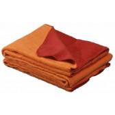 Ledikantdeken katoen oranje / rood gefestonneerd - Jollein