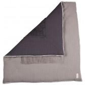 Boxkleed Wafel met badstof Amsterdam Taupe / Dark Grey 75x95 - Koeka