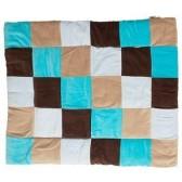 Boxkleed Colourful check aqua / taupe 85x105cm - Jollein