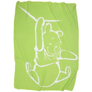 Wiegdeken Silly Pooh lime - Anel