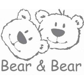 Muursticker groot Bear en Bear grijs - Anel