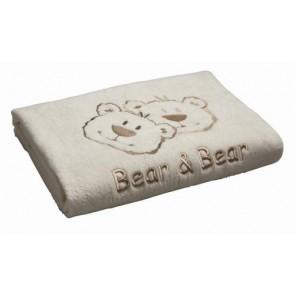 Fleece wiegdeken Bear en Bear ecru - Anel