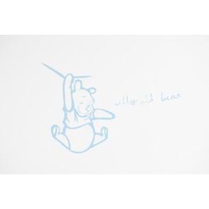 Muursticker middel Silly Pooh blue - Anel