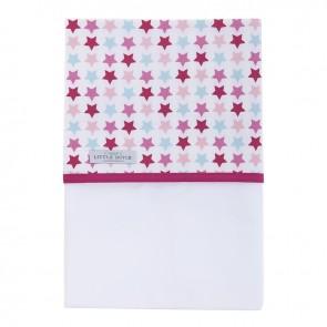Wieglaken Mixed Stars Pink - Little Dutch