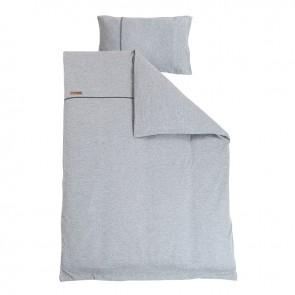 Dekenhoes ledikant Grey Melange - Little Dutch