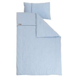 Dekenhoes ledikant Blue Melange - Little Dutch