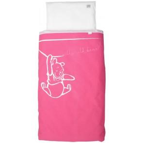 Dekenhoes wieg Silly Pooh pink - Anel