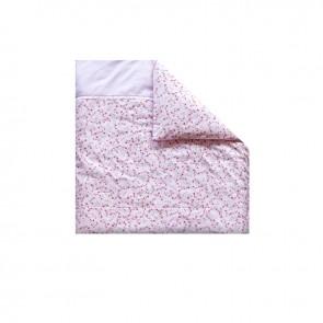 Dekenhoes wieg Pink Blossom – Little Dutch