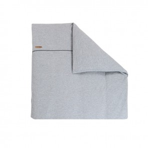 Dekenhoes wieg Grey Melange - Little Dutch