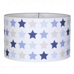 Hanglamp Rond Mixed Stars Blue - Little Dutch