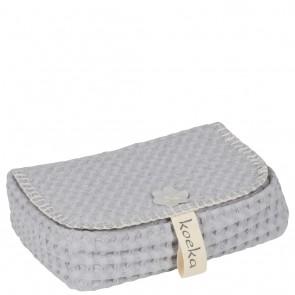 bewaarhoesje voor babydoekjes Antwerp Silver Grey  - Koeka