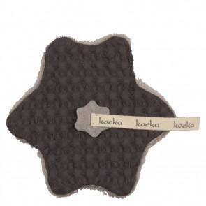 ct is opgeslagen Speendoekje wafel met teddy Oslo Dark Grey / Soft Grey - Koeka