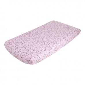 Hoeslaken wieg Pink Blossom – Little Dutch