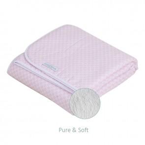 Ledikantdeken Pure&Soft Sweet Pink - Little Dutch
