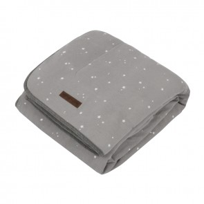 Ledikantdeken Pure&Soft Little Stars Grey - Little Dutch