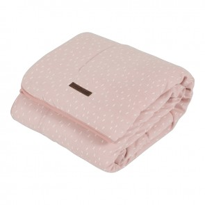 Ledikantdeken Pure&Soft Sprinkles Pink - Little Dutch