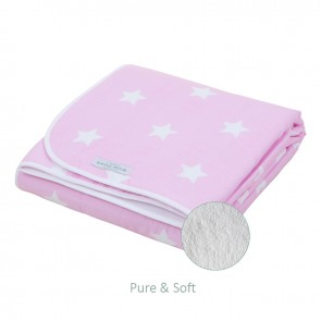 Ledikantdeken Pure&Soft Roze grote ster - Little Dutch